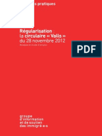 GISTI Commentaire Circulaire Valls Novembre 2012