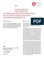 position paper of German small and medium-sized Businesses on on ISDS in TTIP
