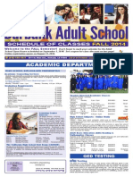 Burbank Adult School Fall 2014 Brochure