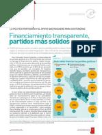 Financiamiento transparente, partidos más sólidos