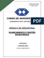 CAPA DO MÓDULO PLANEJAMENTO E GESTÃO ESTRATÉGICA