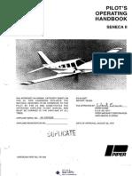 Piper PA-34-200T Seneca II - Pilot's Operating Handbook - 1983