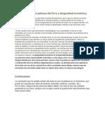 Introducción a La Pobreza Del Perú y Desigualdad Económica