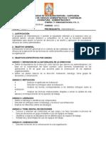 Administración II- Admon Negocios- Programa y Anexo Plan de acción pedagógica