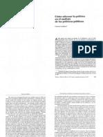 Lindblom 1997 Como Adecuar La Pol Tica en El an Lisis de Las Pol Ticas p Blicas 1