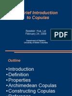 Brief Intro to Copulas