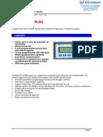 Exor MD02R-04 Specsheet