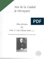 De la obra póstuma del Rvdo. Luís Fullana Mira. (Sobre la Real Villa de Caudete)