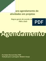 Regras para agendamento de atividades em projetos