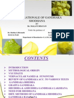Role & Rationale of Gandhaka Shodhana