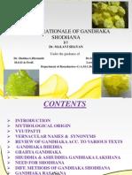 Role & Rationale of Gandhaka Shodhana