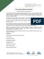 PRFV - Revestimiento Sanitario Para Paredes