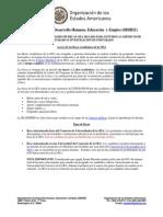 Anuncio Becas OEA Postgrado 2015