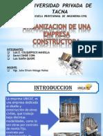 ORGANIZACION APLICATIVO CONSTRUC