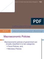 Policies in Macro economics