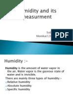 Humidity  process instumentation