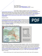 Kurdish and Possible Independence, Summary, CRS
