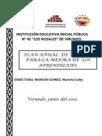 Plan de Mejora de Aprendizaje 2013