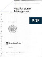 The New Religion of Risk Management