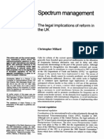 Spectrum management -The legal term implications of reform in the UK