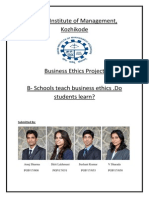 Business Ethics in B-Schools