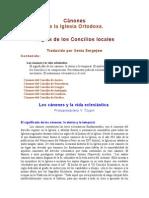 Canones Concilios Locales
