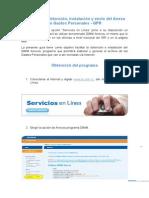 Guía Para La Obtención, Instalación y Envío Del Anexo de Gastos Personales - GPR
