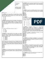 40 Questões Com Gabarito - Iades - Sesdf - De Raciocínio Lógico e Matemático - Prof. Ronilson Mendes