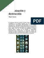 Urbanización y Destrucción-Miguel Amorós