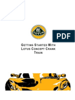 Manual Lotus Concept Crank Train
