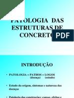 PATOLOGIA  ESTRUTURAS  CONCRETOr2013