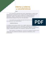 Auditoría Interna y Externa