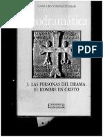 H.v. Balthasar. Ángeles y Demonios. La Trinidad