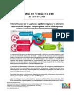 Boletin 038_ Intensificación de La Vigilancia Epidemiológica y La Atención Oportuna Del Dengue, Dengue Grave y Virus Chikungunya