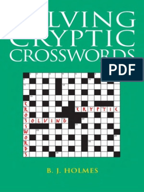 Solving Cryptic Crosswords | Crossword | Linguistics