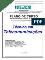 Plano de Curso Téc. Em Telecomunicações