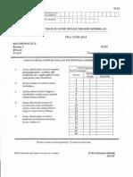 Percubaan UPSR 2014 - Negeri Sembilan - Matematik - K2