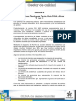 Tema 3. Gráficos, Técnicas de Pareto, Ciclo PHVA y Cinco W y Un H