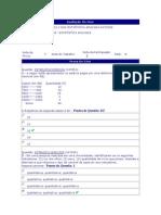 Estatística Aplicada - (5) - AV1 - 2012.1