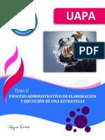 Tema II - Proceso Administrativo de Elaboración y Ejecución de Una Estrategia