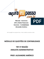 PDF AEP TribunaisExercicios AFO Contabilidade AlexandreAmerico