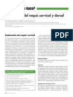 2013 Exploración Del Raquis Cervical y Dorsal