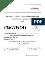 Certificate SNAC 2013-2014