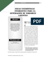 Analisis Multivariante - Tecnicas Estadisticas Multivariante Para La Generacion de Variables Latentes