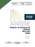 Manual de Equidad de Género 2003 Anide Septiembre 2011