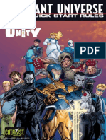 Valiant Universe RPG Quick Start Rules Featuring Unity