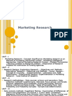 Marketing Research - I