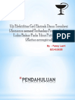 Uji Efektifitas Gel Ekstrak Daun Trembesi (Samanea