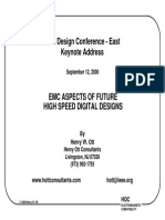 EMC aspects of High speed digital design