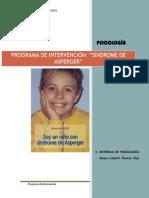 Programa de Intervención (Sindrome de Asperger)